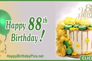 Happy 88th Birthday with Green Macarons