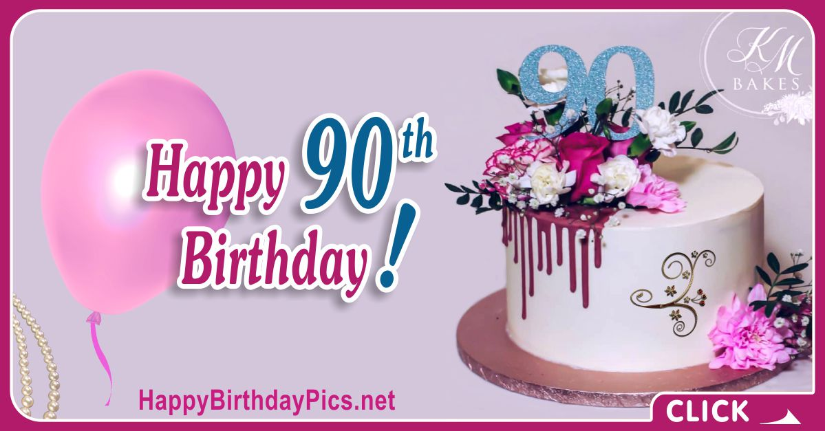 Happy 90th Birthday with Blue Diamonds Card Equivalents
