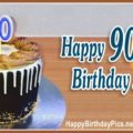 Happy 90th Birthday with Black Cake