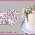 Happy 91st Birthday - Golden Brooch