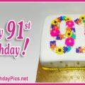 Happy 91st Birthday - Golden Ribbon