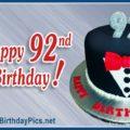Happy 92nd Birthday and Black Tuxedo