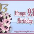 Happy 93rd Birthday with Gold Gemstone