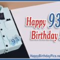 Happy 93rd Birthday with Blue Shirt