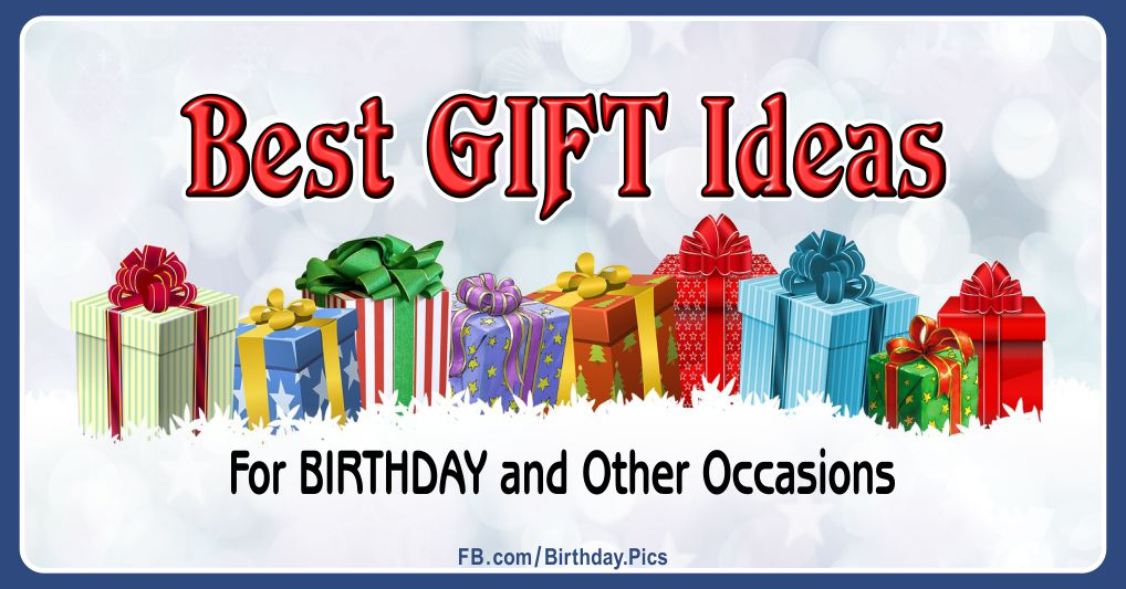 The best gift ideas, birthday gifts ... Gift options for women and men ...