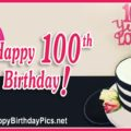 Happy 100th Birthday with Pearls and Dragonfly