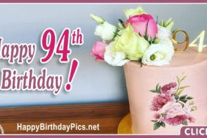 Happy 94th Birthday with Yellow Roses