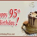 Happy 95th Birthday with Yellow Silver Hand Tools