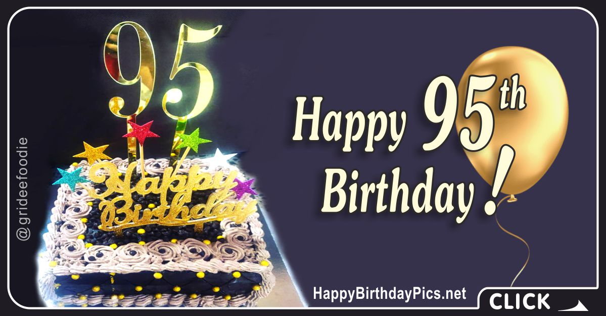 Happy 95th Birthday with Colorful Stars Card Equivalents