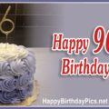 Happy 96th Birthday with Gold Figures