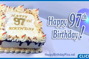 Happy 97th Birthday with Blue Gold Design