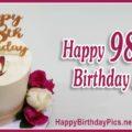 Happy 98th Birthday with Gemstone Brooch