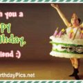 Happy Birthday - Ballet Dancer in Cake Tutu