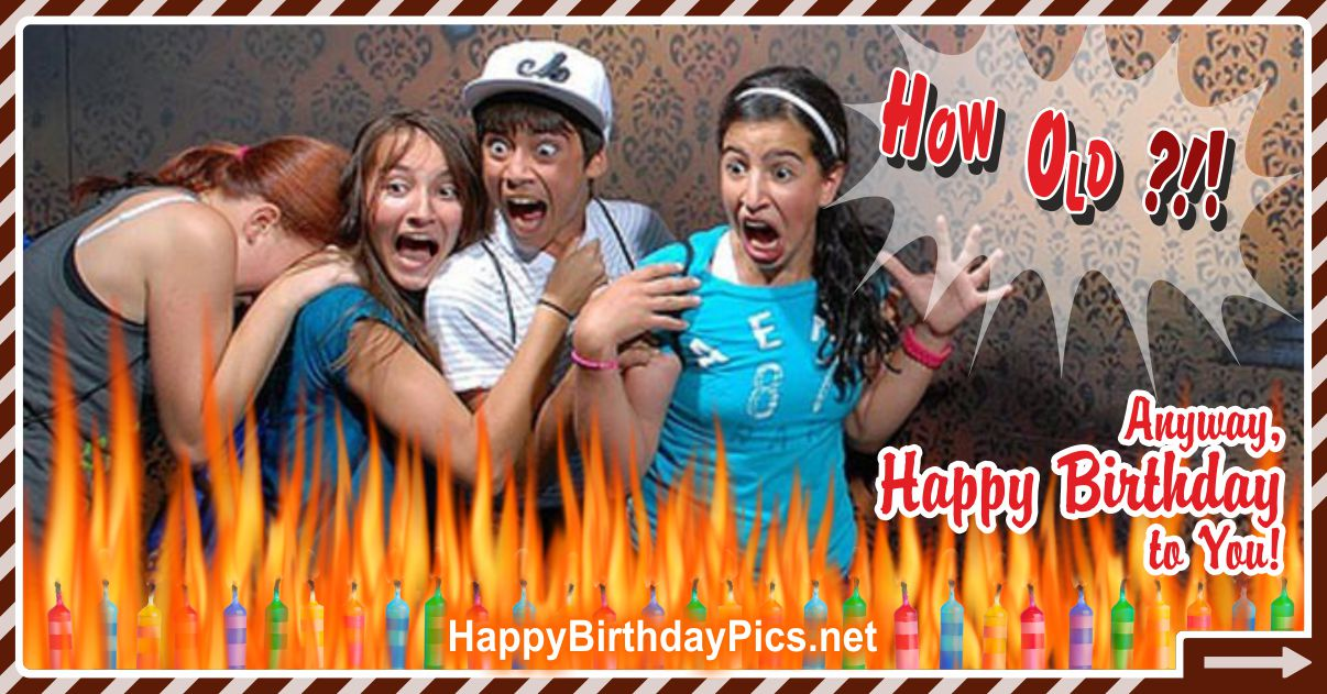 Anyway, Happy Birthday to You! Funny Card Equivalents