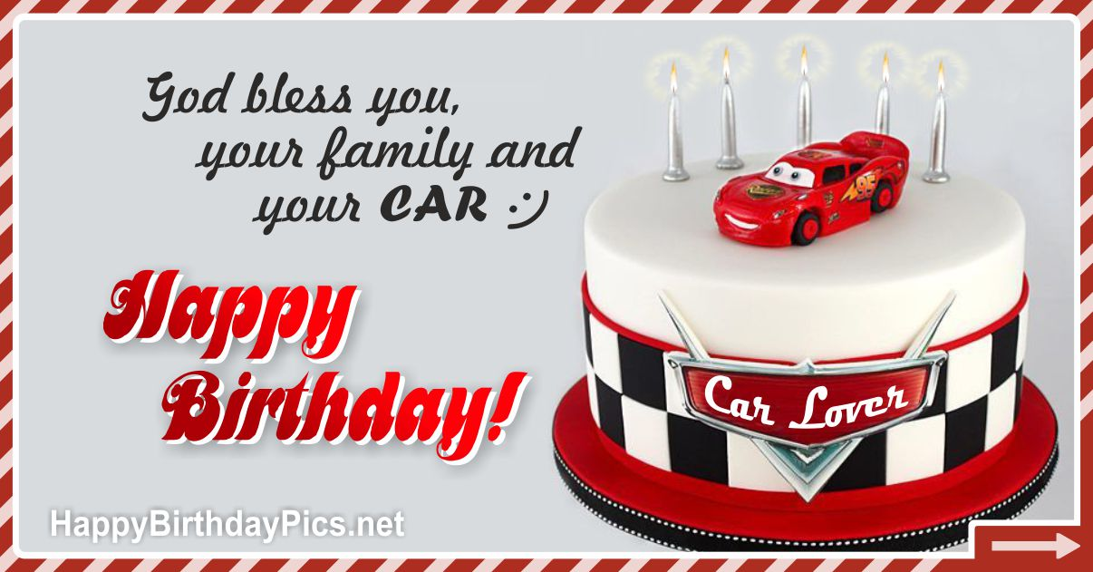 Funny Card 25 Happy Birthday Car Lover