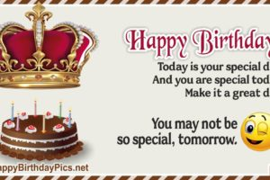 Happy Birthday – You Are Special Today