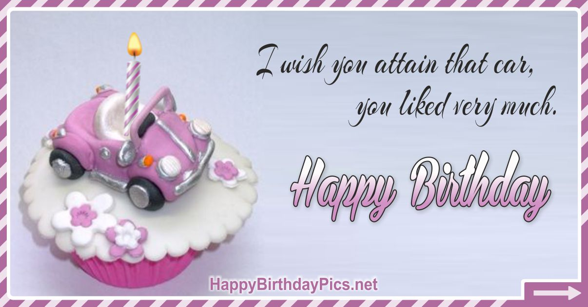 Happy Birthday - To A Car Lover Funny Card Equivalents