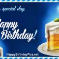 Happy Birthday with Special Day Beer Cake