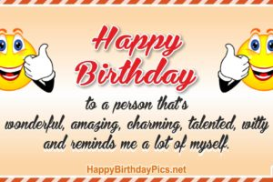 Happy Birthday – Reminds Me Myself