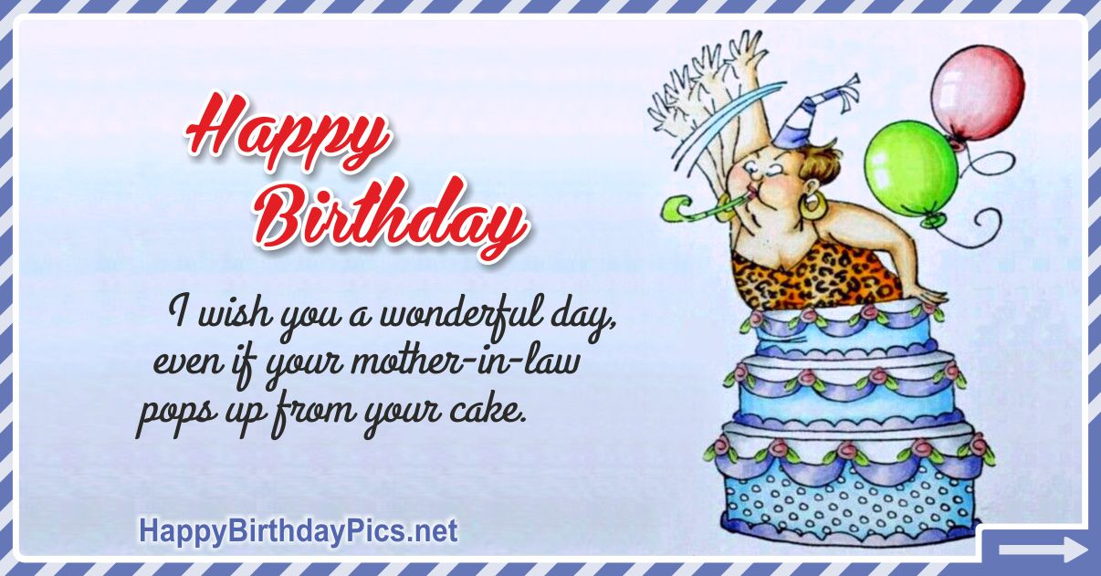 Happy Birthday - Who Pops Up From Your Cake? Funny Card Equivalents