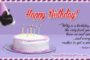 Happy Birthday – We Rush for Birthday Cake