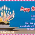 Happy Birthday and Make a Big Cake to Eat