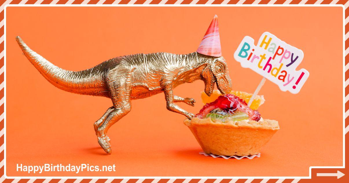 Funny Happy Birthday Card Make a Dinosaur Birthday Party