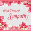 Pink Tulips Flowers With Deepest Sympathy