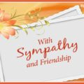 With Sympathy and Friendship, on Condolence Card