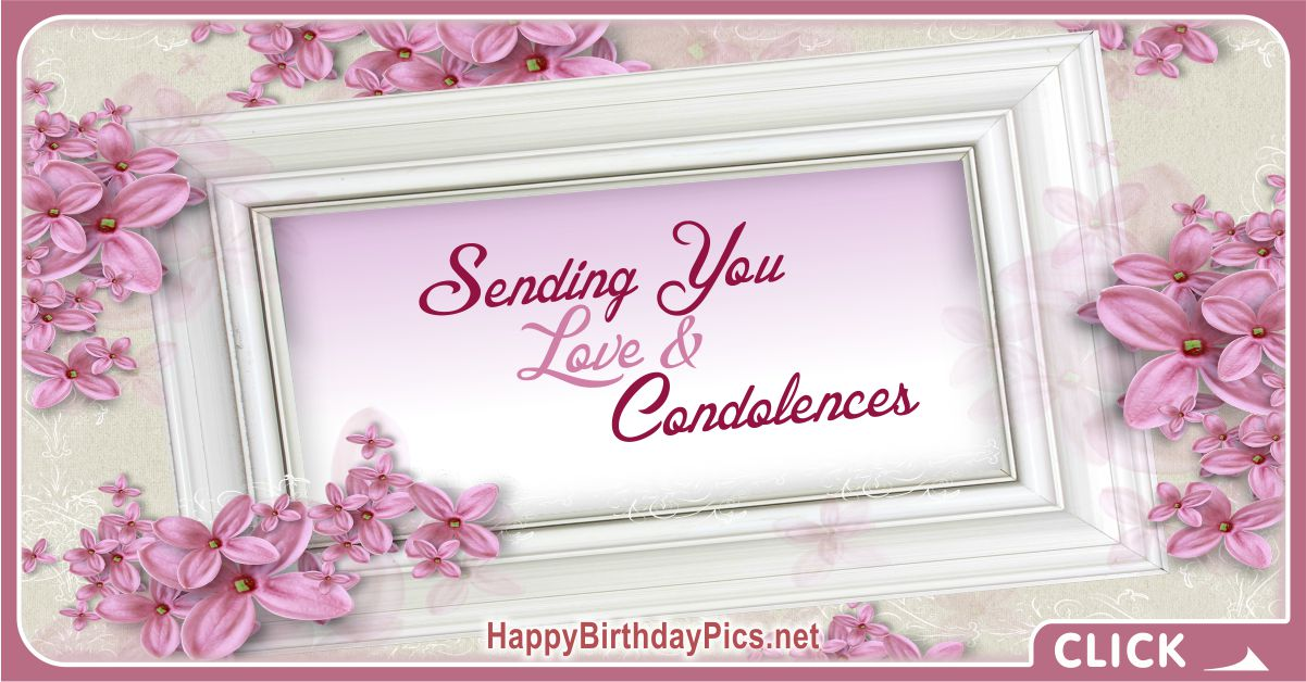 Sending You Love and Condolences Message Card Equivalents