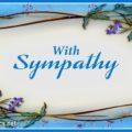 With Sympathy Condolence Message Card