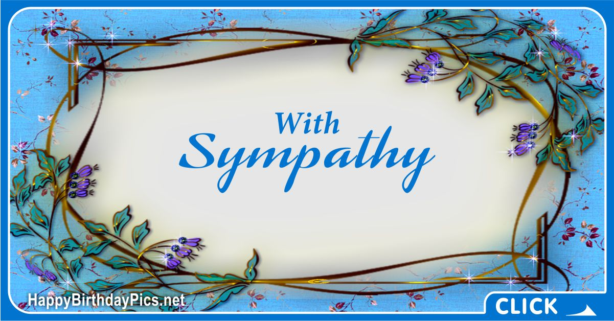 With Sympathy - Condolence Message Card Equivalents