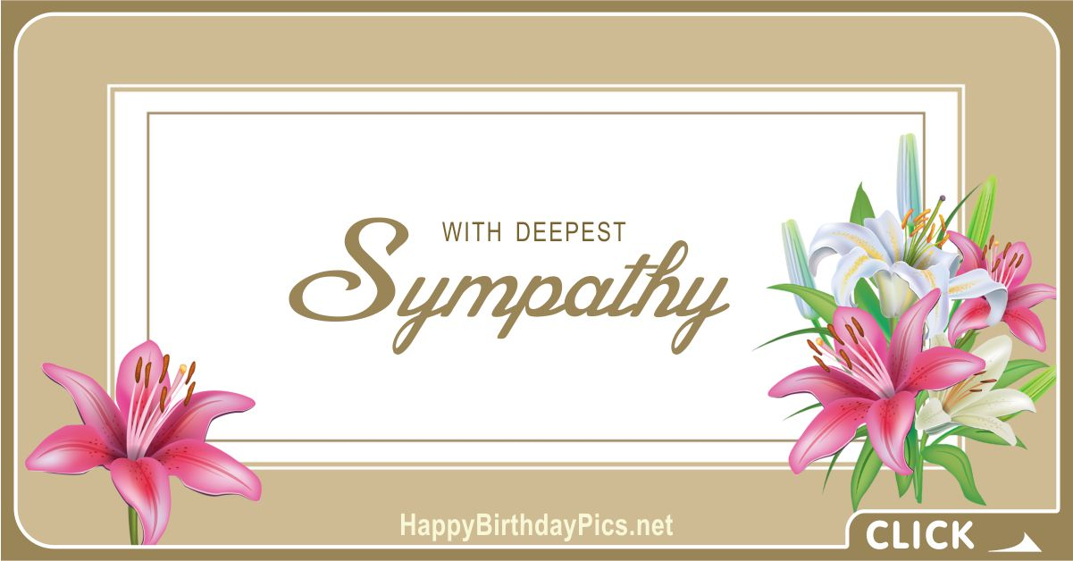 With Deepest Sympathy Condolence Message Card Equivalents