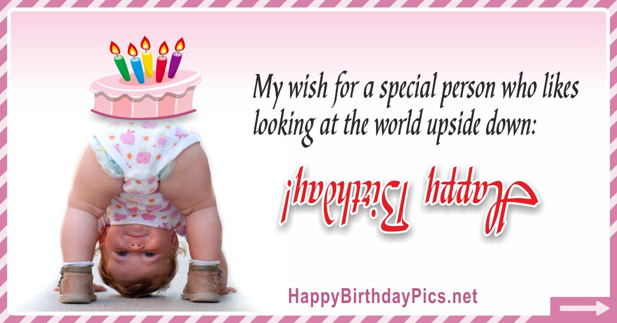 Happy Birthday - My Wish For A Special Person Funny Card Equivalents