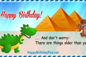 Happy Birthday – Don't Worry, There Are Things …
