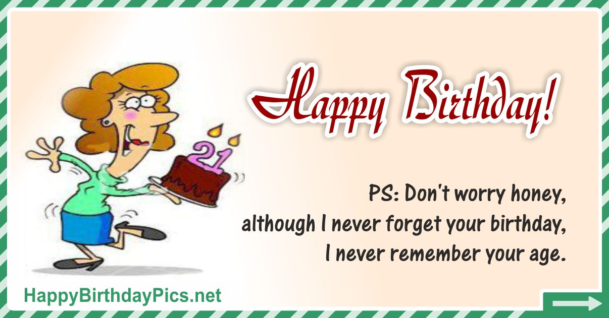 Happy Birthday - I Never Forget Your Birthday Funny Card Equivalents