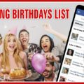 Upcoming Birthdays List