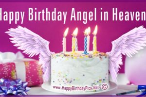 Happy Birthday Angel – A Cake For Our Angel in Heaven