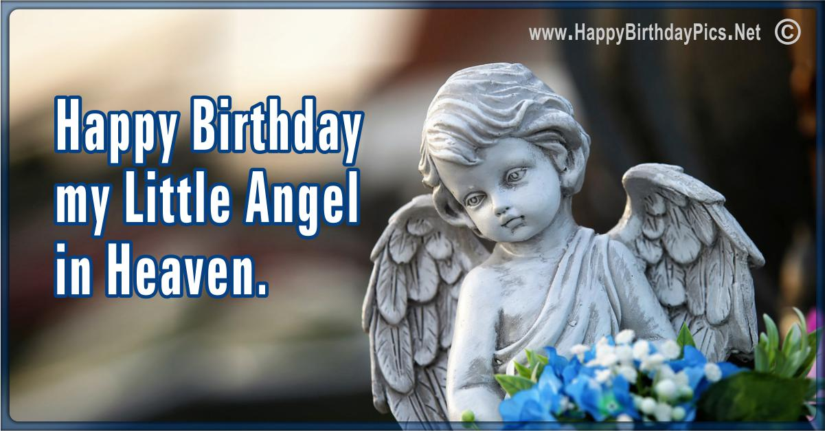 Happy Birthday Angel - My Little Angel in Heaven Card Equivalents