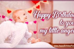 Happy Birthday Angel – Hearts to my Little Angel