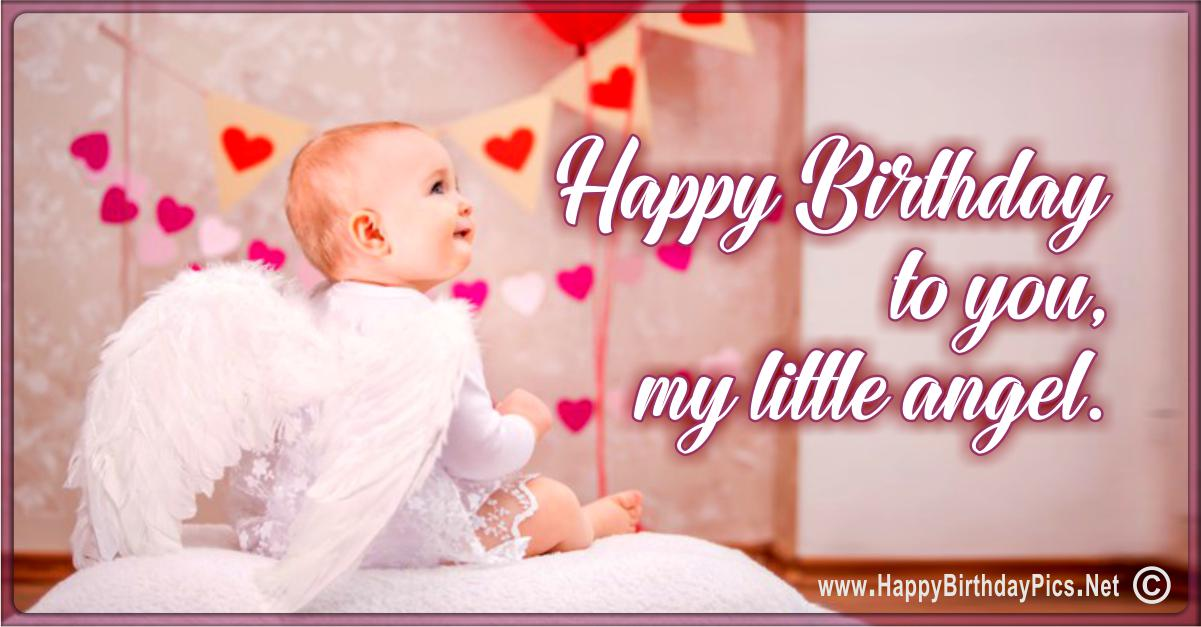 Happy Birthday Angel - Hearts to my Little Angel Card Equivalents