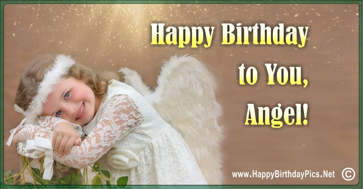 Happy Birthday Angel!