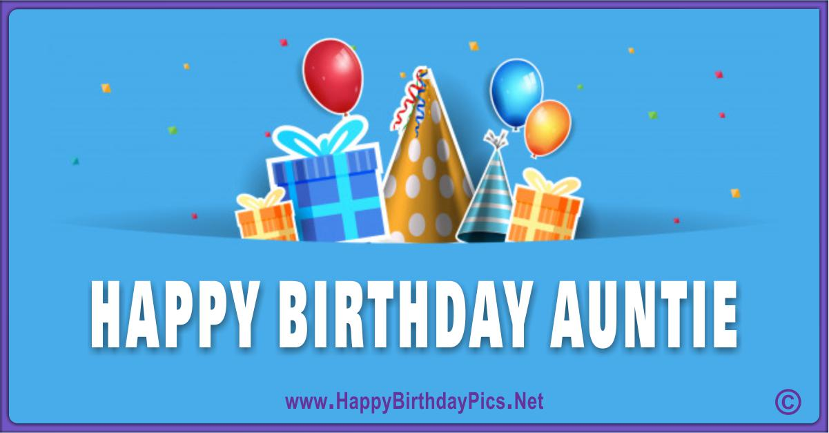 Happy Birthday Aunt - Wishing You A Best Day Ever Card Equivalents