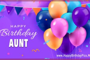 Happy Birthday Aunt – Have a Colorful Year