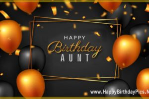 Happy Birthday Aunt – It is Your Golden Day