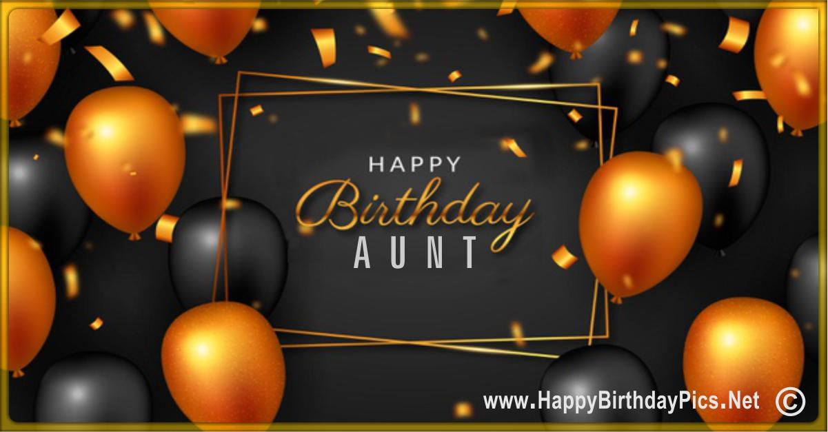 Happy Birthday Aunt - It is Your Golden Day Card Equivalents