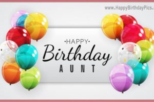 Happy Birthday Aunt – Balloons and Elegance