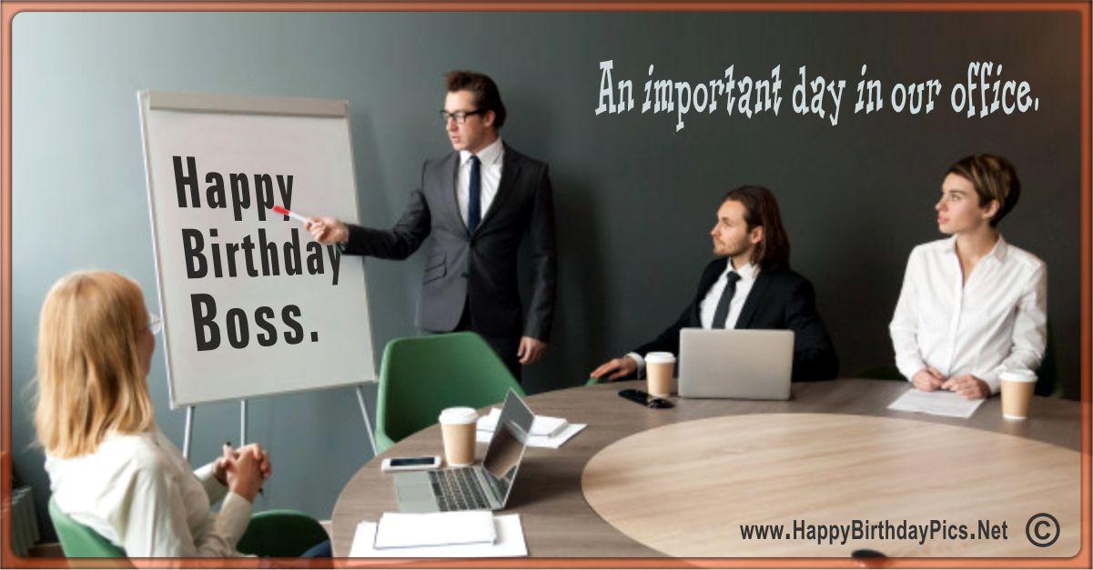 Happy Birthday Boss - Birthday Presentation Funny Card Equivalents