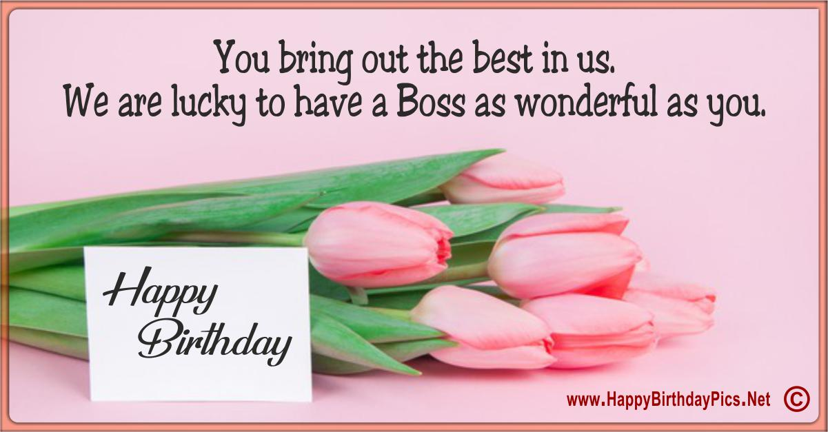 Happy Birthday Boss - You Bring Out The Best In Us Funny Card Equivalents
