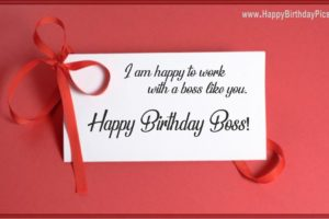 Happy Birthday Boss – A Card With Ribbons